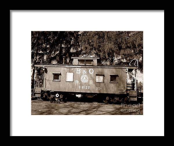 Train Framed Print featuring the photograph Old Timer by Sara Raber