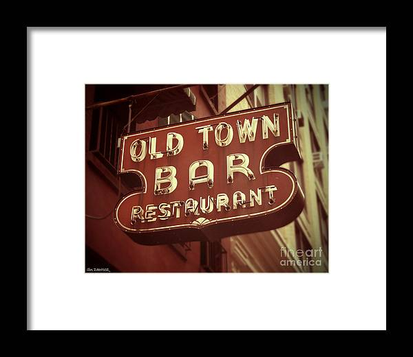 Old Town Bar Framed Print featuring the digital art Old Town Bar - New York by Jim Zahniser