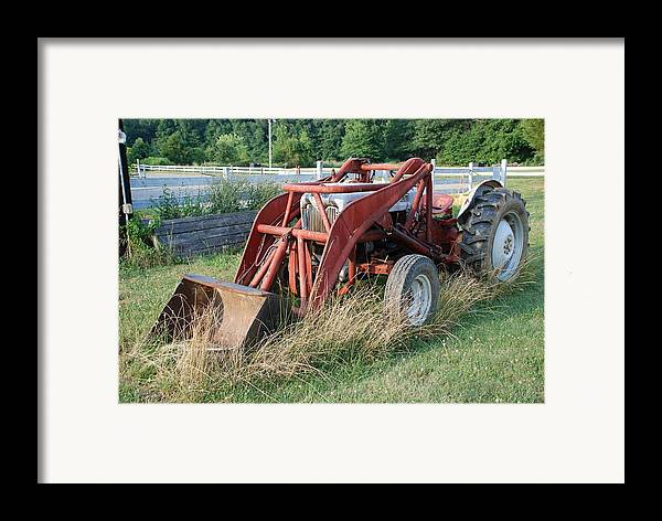 Tractor Framed Print featuring the photograph Old Tractor by Jennifer Ancker