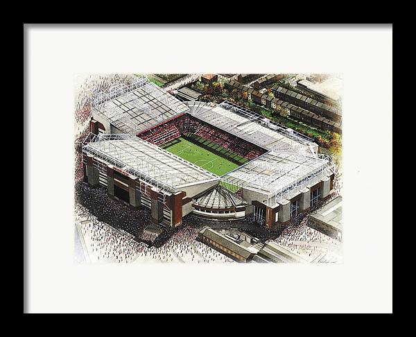 Old Trafford Manchester United Framed Print By Kevin