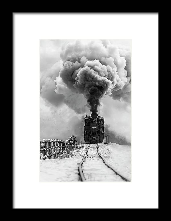 Steam Framed Print featuring the photograph Old Train by Sveduneac Dorin Lucian