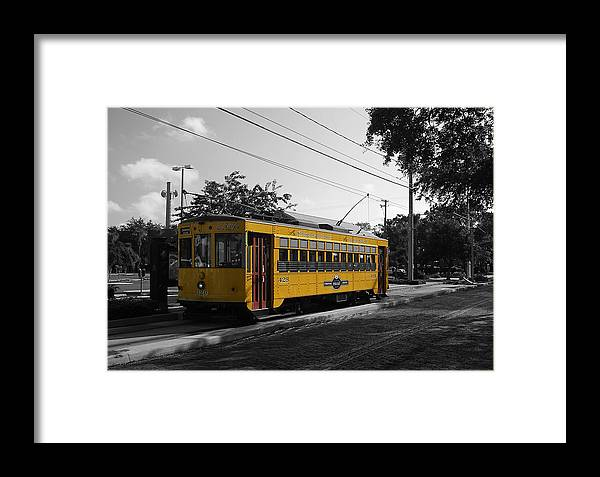 Trolley Framed Print featuring the photograph Old Trolley by Chauncy Holmes