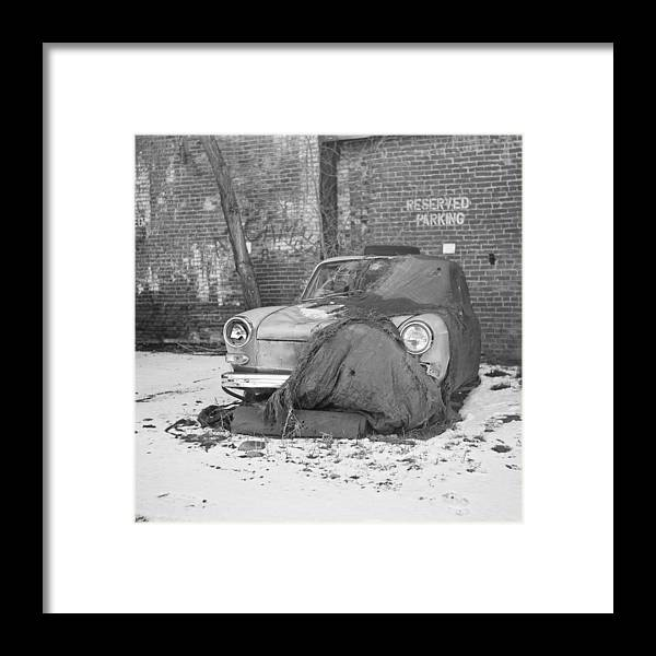 Ansco Framed Print featuring the photograph Old Vw Squareback by Steve G Bisig