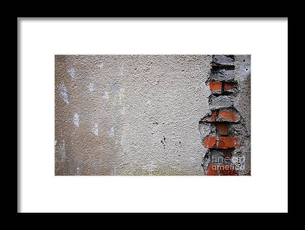 Old Wall Fragment Framed Print featuring the photograph Old Wall Fragment by Jolanta Meskauskiene