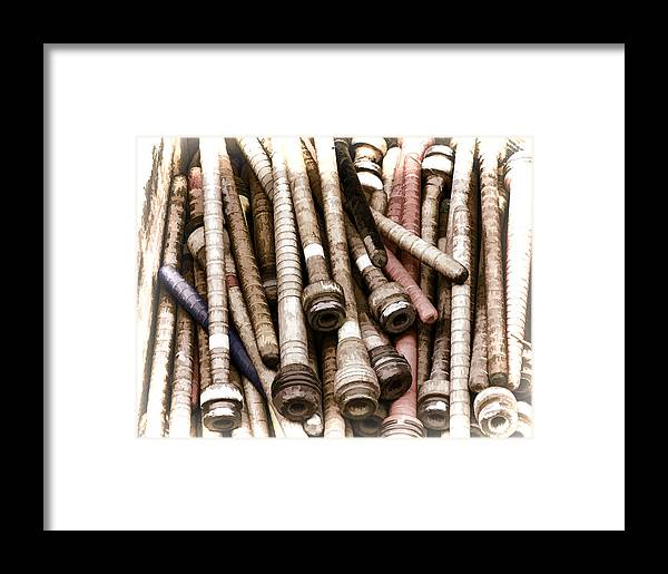 Artist Framed Print featuring the photograph Old Weaving Spools by Ray Summers Photography