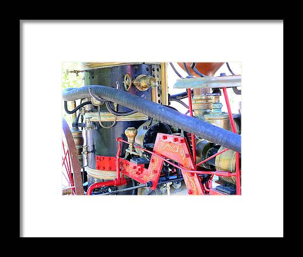 Fire Framed Print featuring the photograph Old West Fire Wagon V2 by John Straton
