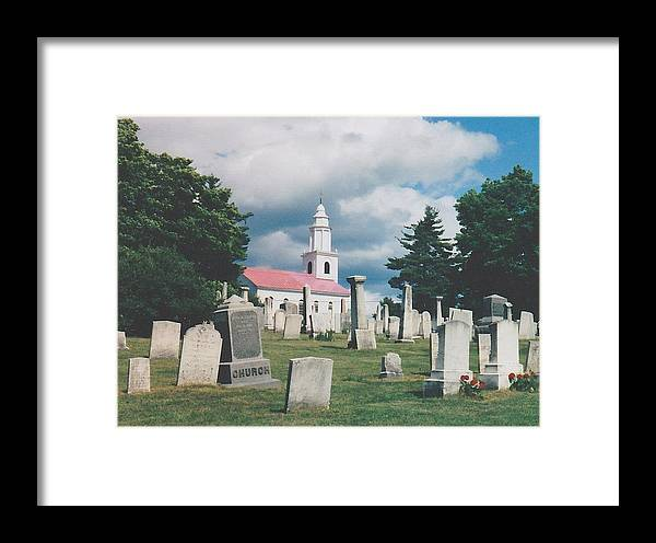 Blandford Framed Print featuring the photograph Old White Church Cemetery by Todd Shepard