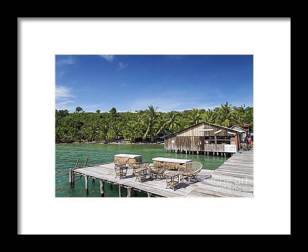Asia Framed Print featuring the photograph Old Wooden Pier Of Koh Rong Island In Cambodia by Jacek Malipan