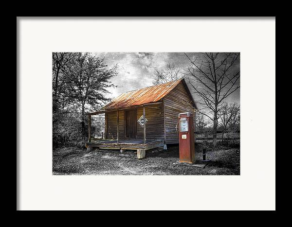 American Framed Print featuring the photograph Olden Days by Debra and Dave Vanderlaan