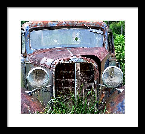Antique Car Framed Print featuring the photograph Ole Chevy by Leon Hollins III
