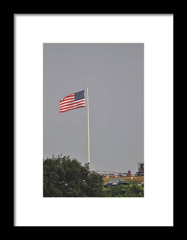 Framed Print featuring the photograph Ole Glory by Linda Ogburn
