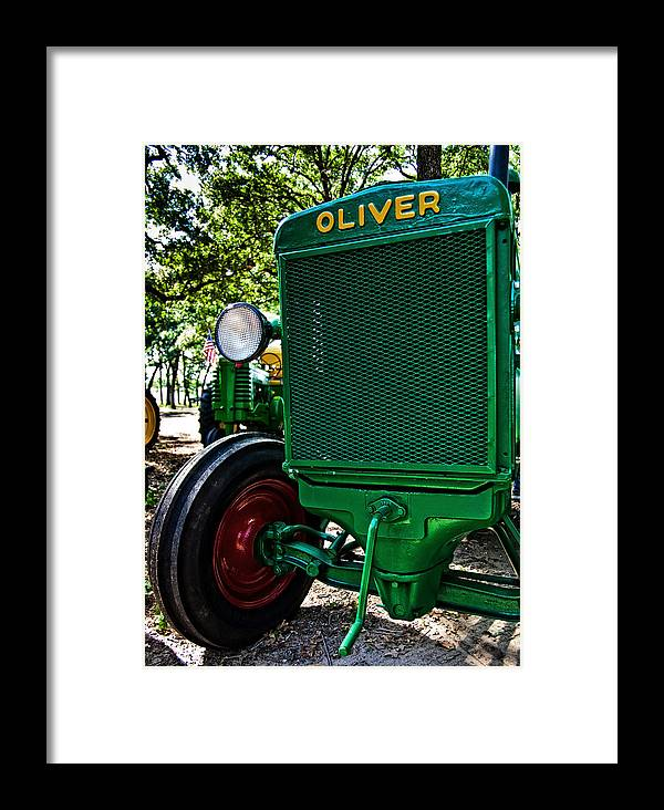Tractor Framed Print featuring the photograph Oliver Tractor by Mark Alder