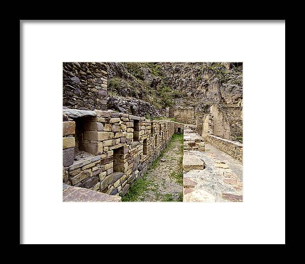 Inca Framed Print featuring the photograph Ollantaytambo Peru by Jared Bendis