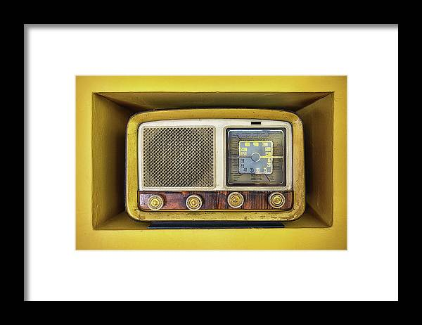 Music Framed Print featuring the photograph Ols School Radio by Chema Mancebo