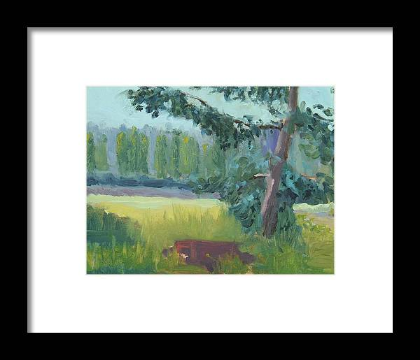 Framed Print featuring the painting Olympic Nursery View by Raymond Kaler