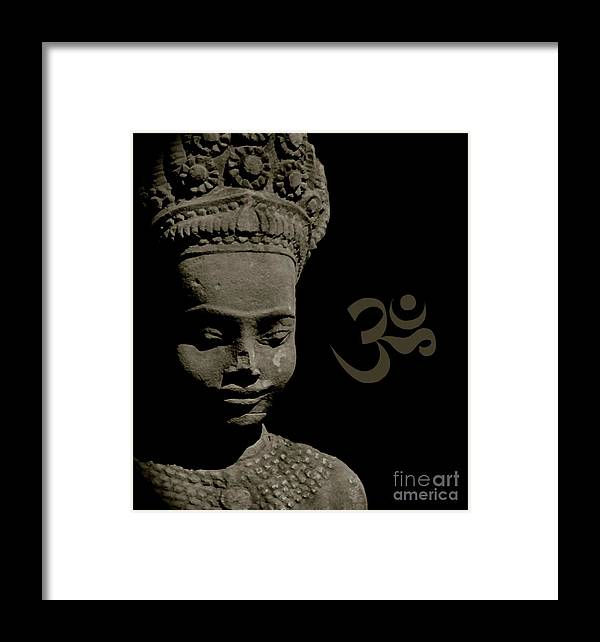 Peace Framed Print featuring the sculpture Om by Louise Fahy