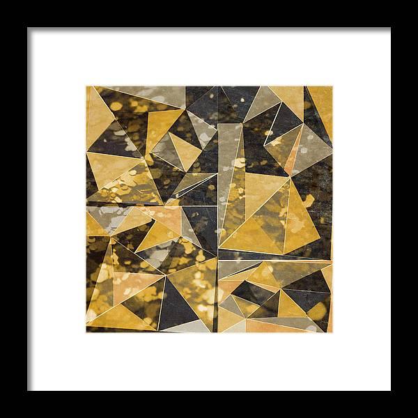 Omg Framed Print featuring the digital art Omg Modern Triangles II by south Social Studio