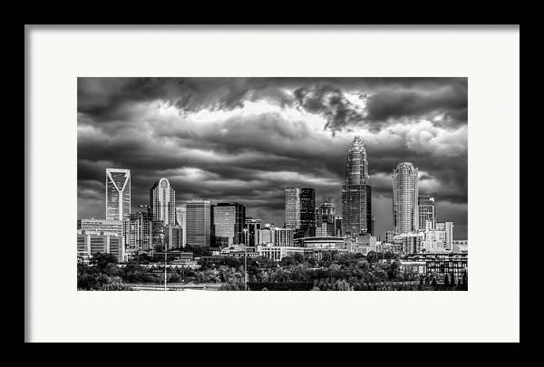 Charlotte Framed Print featuring the photograph Ominous Charlotte Sky by Chris Austin