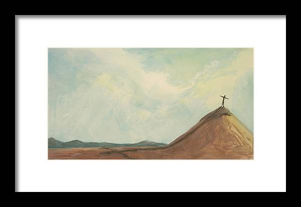 Top Framed Print featuring the painting On A Mountain 2009 by Thomas Griffith