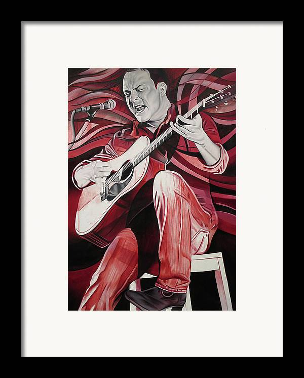 Dave Matthews Framed Print featuring the painting On Bended Knees by Joshua Morton