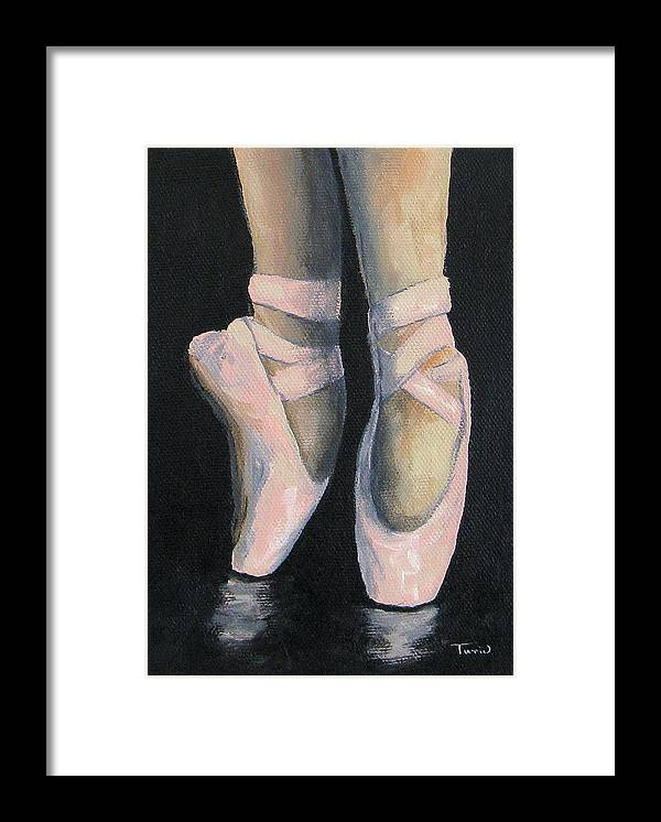 Ballet Framed Print featuring the painting On Point IV by Torrie Smiley
