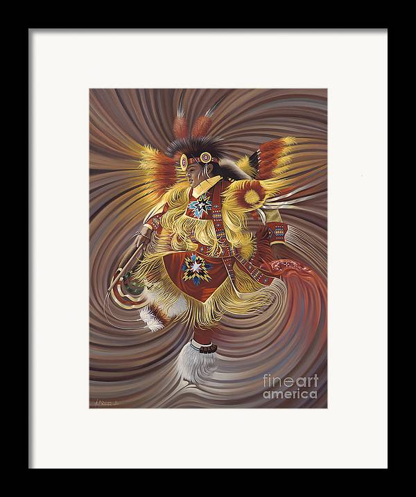 Sacred Framed Print featuring the painting On Sacred Ground Series 4 by Ricardo Chavez-Mendez