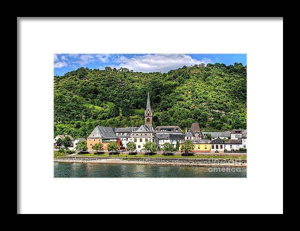 Village Framed Print featuring the photograph On The Banks Of The Rhine by Ines Bolasini