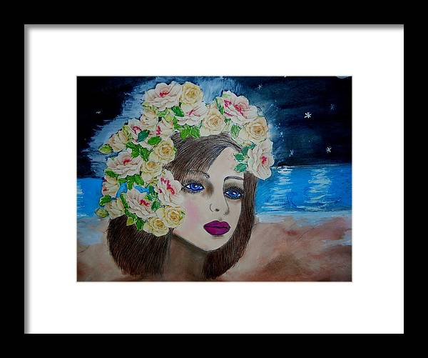 Model Paintings Framed Print featuring the painting On The Beach by Suzanne Thomas