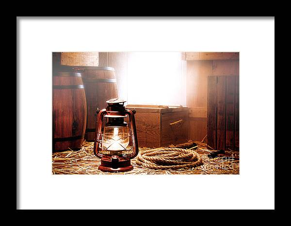 Kerosene Framed Print featuring the photograph On The Dock by Olivier Le Queinec