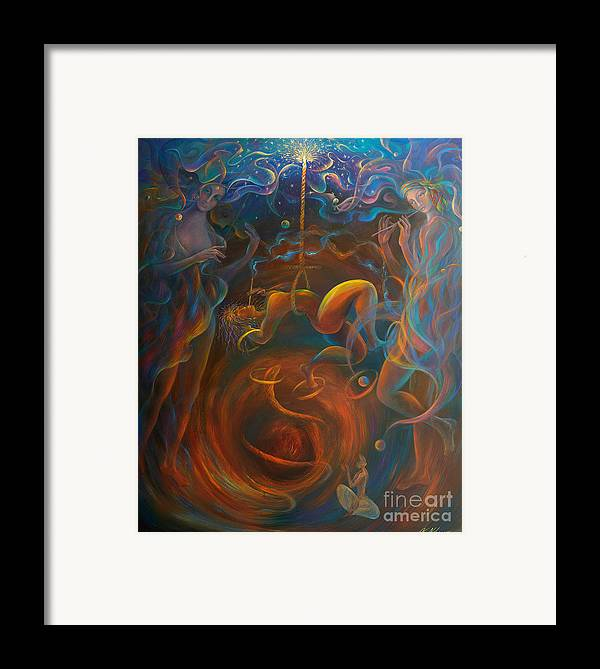 Peace Framed Print featuring the painting On The Estatic Verge by Vladimir Nazarov
