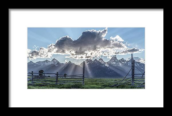 Horizontal Framed Print featuring the photograph On The Fence by Jon Glaser