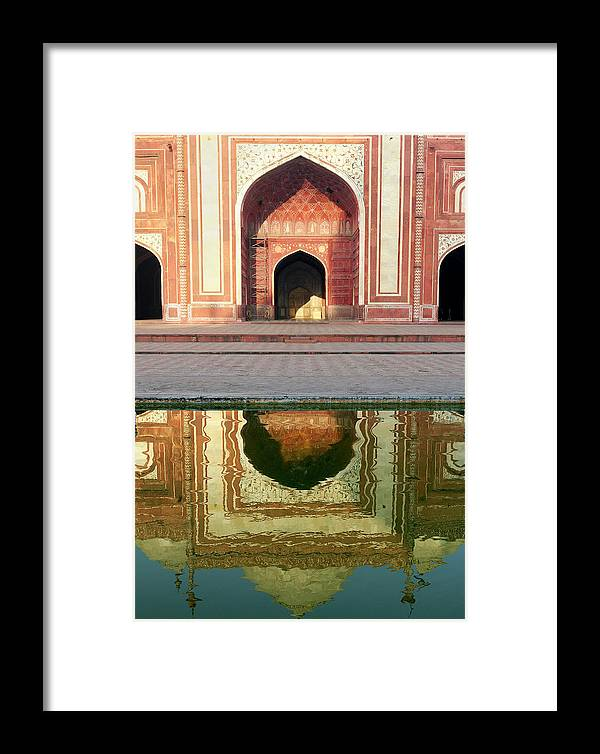 Agra Framed Print featuring the photograph On The Grounds Of The Taj Mahal by Steve Roxbury