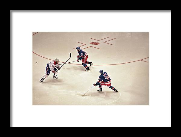 Hockey Framed Print featuring the photograph On The Offense by Karol Livote