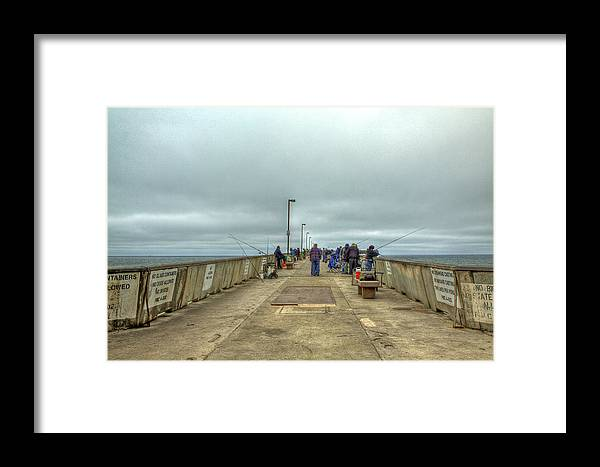 Beach Framed Print featuring the photograph On The Pier At Pacifica by SC Heffner