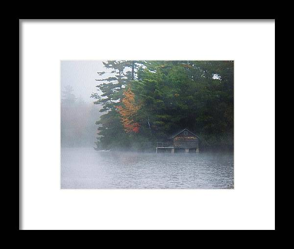 On The Pond Framed Print featuring the photograph On The Pond by Joy Nichols