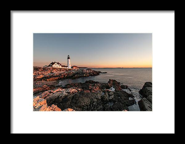 Lighthouse Framed Print featuring the photograph On The Rocks by Denis Therien