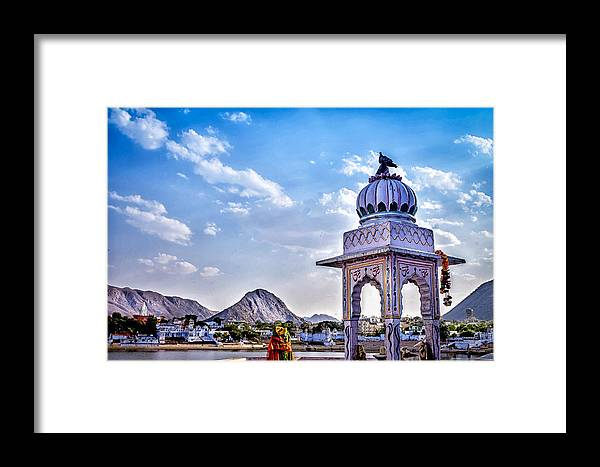 Pushkar Framed Print featuring the photograph On The Shores Of Pushkar Lake by Catherine Arnas