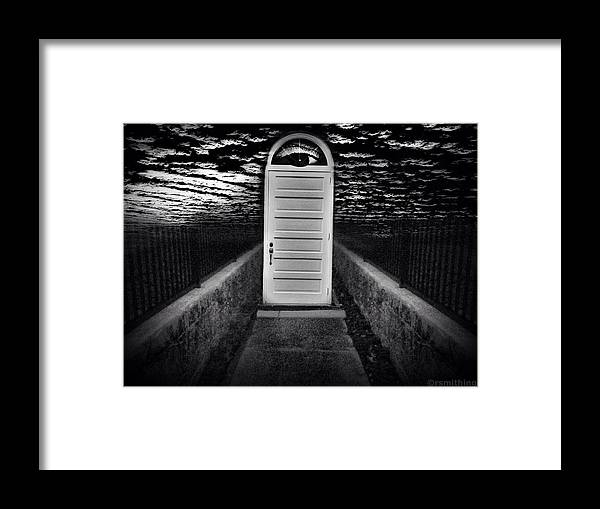 Photomontage Framed Print featuring the photograph On The Verge Of Something Of Course by Richard Smith