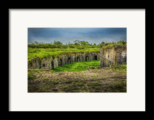 Fort Macomb Framed Print featuring the photograph On Top Of Fort Macomb by David Morefield