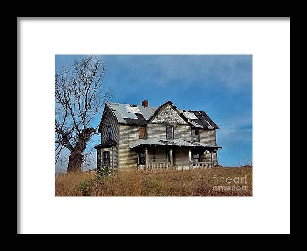 Framed Print featuring the photograph Once Upon A Hill by Hominy Valley Photography
