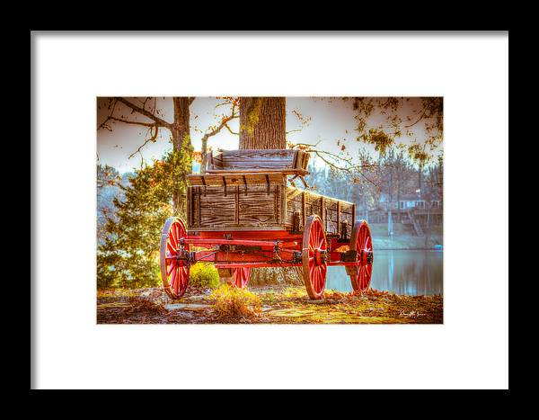 Wagon Framed Print featuring the photograph Wagon - Rustic - Once Upon A Time Before Pickups by Barry Jones
