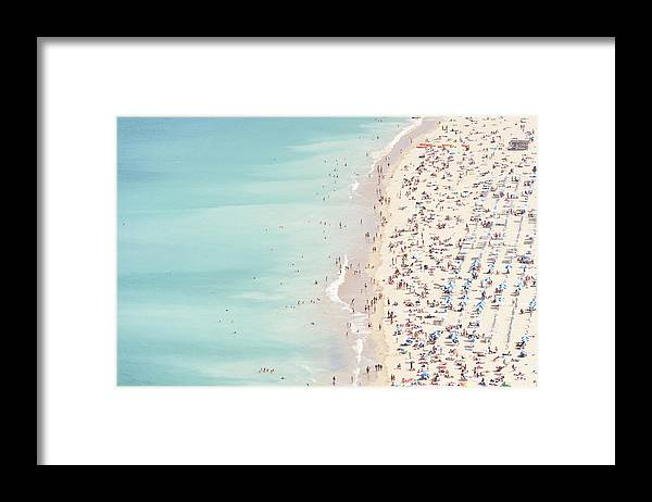 Water's Edge Framed Print featuring the photograph Ondarreta Beach, San Sebastian, Spain by John Harper