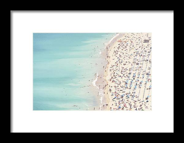 Water's Edge Framed Print featuring the photograph Ondarreta Beach, San Sebastian, Spain by John Harper
