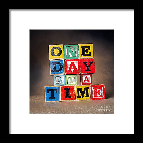 One Day At A Time Framed Print featuring the photograph One Day At A Time by Art Whitton
