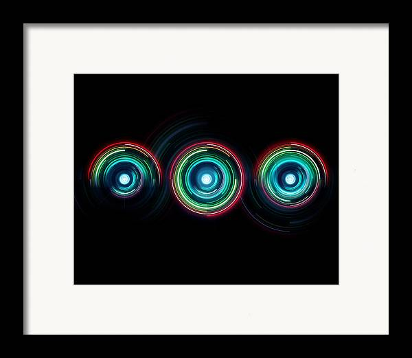 Rainbow Framed Print featuring the digital art One by George Smith