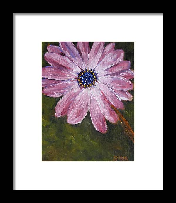 Flower Framed Print featuring the painting One Love by Kathy Stiber