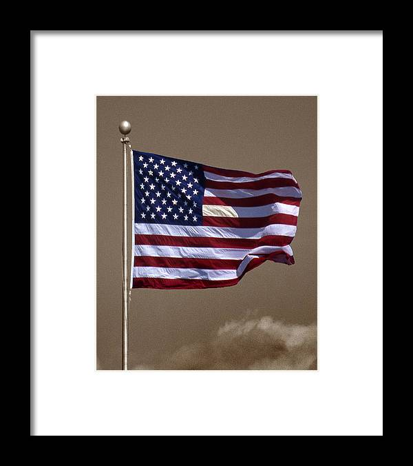 Flag Framed Print featuring the photograph One Nation by Skip Willits
