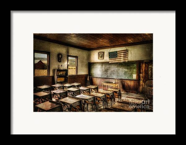 School Framed Print featuring the photograph One Room School by Lois Bryan