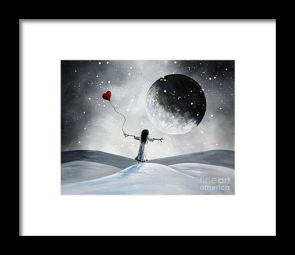 Surreal Framed Print featuring the painting One Small Dream By Shawna Erback by Artisan Parlour