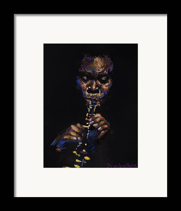 Music Framed Print featuring the painting One With The Music by Ellen Dreibelbis